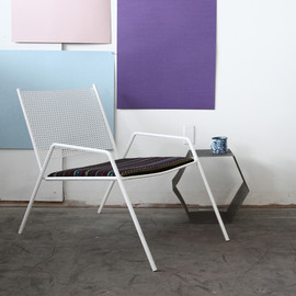 eric trine - outdoor lounge chair - perforated steel