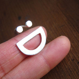 smilingsilversmith - happy face :D handmade silver Ring