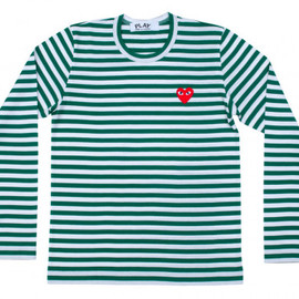 PLAY COMME des GARCONS - Play Striped T-Shirt (Green/White)