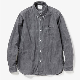 vendor Things - COTTON DENIM B.D. SHIRT