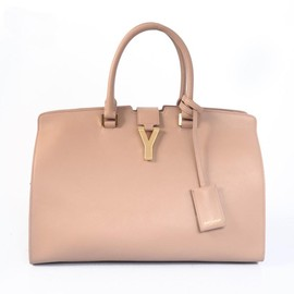 サンローラン - Ysl 8837 Yves Saint Laurent 2013 Medium Cabas Chyc Bag 8337 Camel