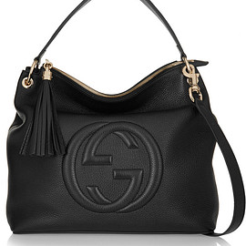 GUCCI - Soho Hobo textured-leather shoulder bag