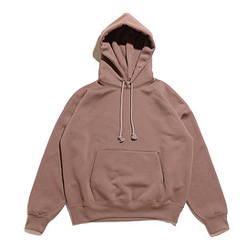 AURALEE - Baggy Polyester Sweat P/O Parka-Brown