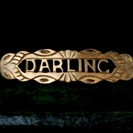 "antique - 1890s Gold Filled "" Darling""  Pin"