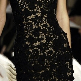 Valentino - black lace dress