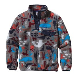 patagonia - Boys' Lightweight Synchilla Snap-T Pullover - Arctic Kin: Feather Grey