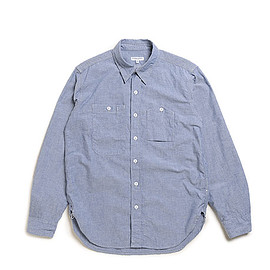 ENGINEERED GARMENTS - Work Shirt-Lt.Weight Cotton Chambray-Lt.Blue