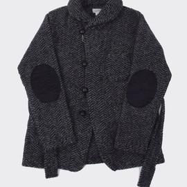 FWK Engineered Garments - Shawl Collar Knit Jacket - Grey Herringbone Knit