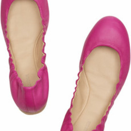 JIL SANDER - leather ballerina flats
