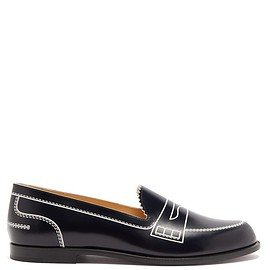 Christian Louboutin - Mocalaureat trompe-l'oeil leather penny loafers