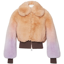 MARC JACOBS - Mauve Degrade Fox Cropped Bomber Jacket