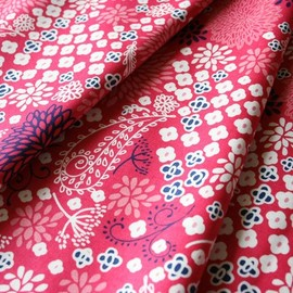 blend fabrics - Vintage Summer Paisley Red