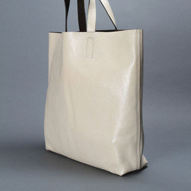 dries van noten - bag shopper white leather