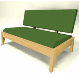 Landscape Products - LOW RIDE SOFA 2SEAT : BUTE / BEECH