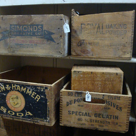 Antique Wood Boxes