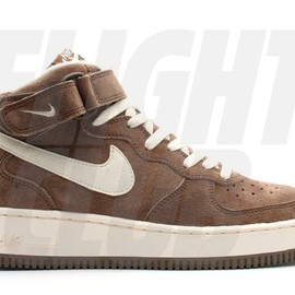 Nike - nike air force 1 mid sc chocolate/cream