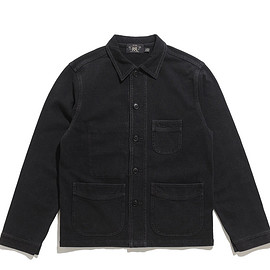 RRL - Cotton Jersey Chore Coat-Sulphur Black
