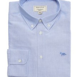 MAISON KITSUNÉ - MAISON KITSUNE CLASSIC SHIRT BD WITH POCKET (SOLID)(シャツ・ブラウス)|ブルー