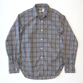 Engineered Garments - Tab Collar Shirt Grey/Navy/Red Plaid Poplin