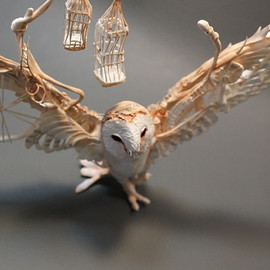 Ellen Jewett - Barn Owl with Mechanics