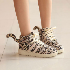 shoes - Image of [grxjy5190112]European Style Leopard Print Tail Shoes