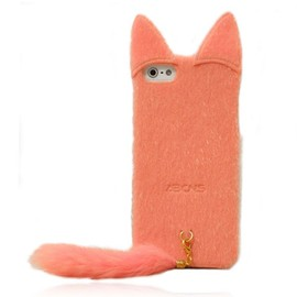 alanatt - Fluffy Cat with Tail Case for iPhone 4/ 4S