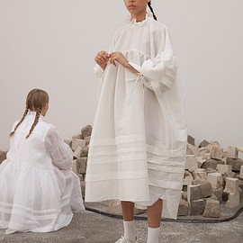 Cecilie Bahnsen - Oversize shirt dress with pleats