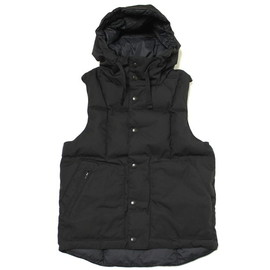 Engineered Garments - Down Vest Hoody-Army Cloth