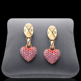 Christian Dior - 《NEW!!2012AW》◆Dior◆ Gold-plated 'Pop Heart' earrings 1
