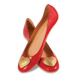 Lillybee - bold red patent ballet flats