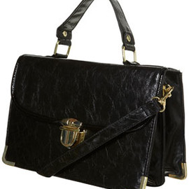 TOPSHOP - Black Frame Lock Bag