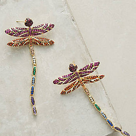 Anthropologie - Dragonfly Drop Earrings