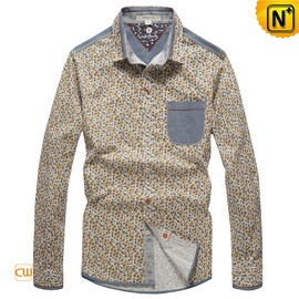 CWMALLS - Pure Cotton Long Sleeve Shirts for Men CW114706