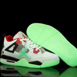 Available Now : Nike Jordan 4 with White Varsity Red - Black Colorways - Gow In The Dark