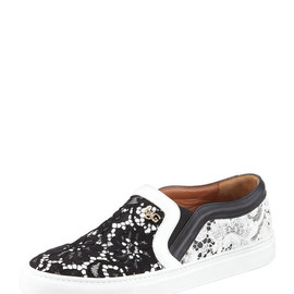 GIVENCHY - Lace Slip-On Sneaker, Black/White