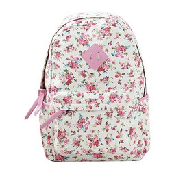 Sweet Overall Floral Print Backpack Schoolbag