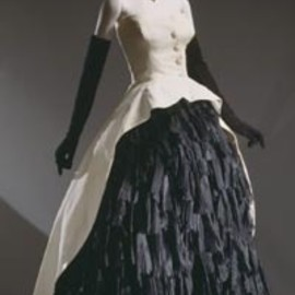 Evening Dress  1951, French, Made of silk organza and cotton