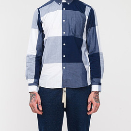 Saturdays Surf NYC - Saturdays Surf Nyc Exploded Plaid in Blue for Men (navy)