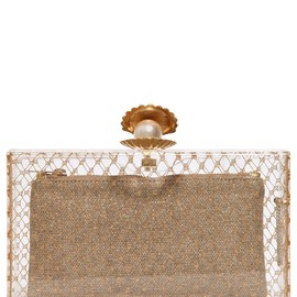 CHARLOTTE OLYMPIA - PEARL PANDORA PERSPEX CLUTCH