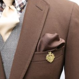 Mens Chocolate Brown Vintage Blazer
