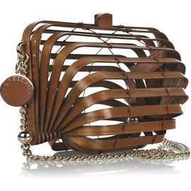 STELLA McCARTNEY - Wooden accordion clutch bag