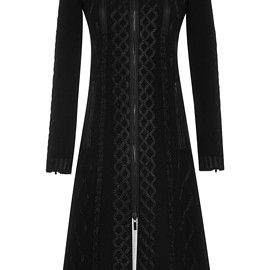 THOM BROWNE - FW2015 Satin Stich Cable Embroidery Dress