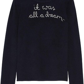 Lingua Franca - It Was All A Dream embroidered cashmere sweater