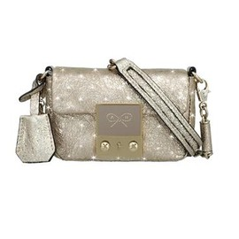 ANYA HINDMARCH - Tiny Tim Dancer Crinkle Leather - Halo