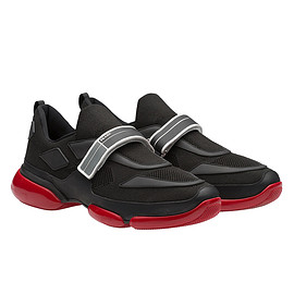 PRADA - Prada 2OG064 Men Cloudbust Sneakers In Black/Red