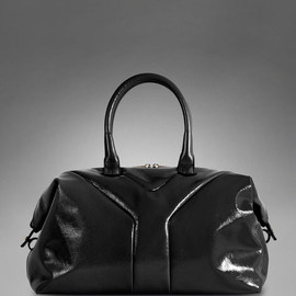 Yves Saint Laurent - Medium YSL Easy In Black Patent Leather