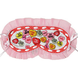 "Mary Green - Eye mask  "" Candy hearts """