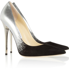 Jimmy Choo - Anouk degradé metallic leather and suede pumps