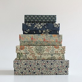 "Carta Pura - ""5 Boxes Set"" Flower pattern"