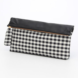 Salon de Balcony(サロンドバルコニー)通販 |GINGHAM CHECK TAFFETA CLUTCH BAG(正面)